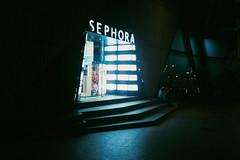 (Hem.Odd) Tags: olympusxa3 agfavista400 night shop sitting alone light darkness