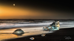 Sunrise at Diamond Beach (petebristo) Tags: diamondbeach ice iceland seascape