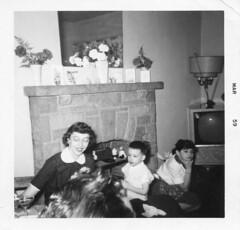 Aunt Shirley family photos (jericl cat) Tags: march 1959 1950s living room gay lesbian homosexual history vintage photo candid men women party tv fireplace interior cocktail drink drinking aunt shirley wisconsin wi