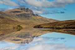The Old Man Of Storr Reflected (Twiglet Images) Tags: landscape grasds water lake loch sky cloud blue reflection skye isle island scotland man nikon reflections grass trotternish isleofskye hebrides highland storr lochfada