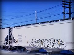 (timetomakethepasta) Tags: deuce seven twenty 27 freight train graffiti art grainer hopper