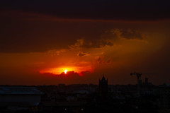 Sunset - 5/15/18 (ep_jhu) Tags: sun hdr cathedral washington sunset 7d puesta placeofworship nationalcathedral sky sol canon dc nubes clouds