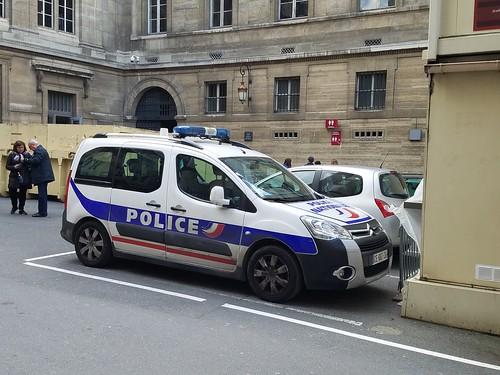Paris France Police Nationale Citroen Berlingo