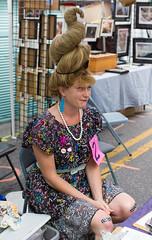 High Hair (BrilliantBill) Tags: highhair canon candid candidportrait honfest hon bighair hair bandaids contestant street streetfair