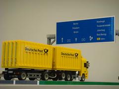 (BrickFabrik) Tags: lego truck mercedesbenzactros actros post autobahn highway