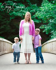 Mom and her Boys (CaseyCsaszar) Tags: family families familyportrait portrait portraiture color colors kids kid children outdoors park greenery trees bridge sweet brothers pink white green blue vivid bright happy joy happiness life real