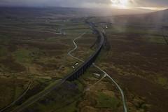 Ribblehead_06 (julesh1966@googlemail.com) Tags: ribbleheadviaduct northyorkshire yorkshiredales sunrise clouds railway landscape grassland ingleborough colour autumn ariel drone