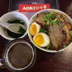 Chashu Don (hinxlinx) Tags: costa mesa pine brook village ca food aoki chashu don egg pork sapporo