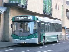 East Coast Buses 10057 on layover in Ponton Street, Edinburgh. (calderwoodroy) Tags: eclipseurban4 wrightbus b8rle volvo sf17vme 10057 servicex5 edinburghtransport eastcoastbuses lothianbuses singledecker bus pontonstreet tollcross edinburgh scotland