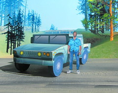 The Patriot Hummer Military Vehicle Paper Model And Tommy Vercetti Paper Figure From PS2 Grand Theft Auto Vice City Game : Diorama GTA San Andreas Game Scenery - 6 Of 14 (Kelvin64) Tags: the patriot hummer military vehicle paper model and tommy vercetti figure from ps2 grand theft auto vice city game diorama gta san andreas scenery