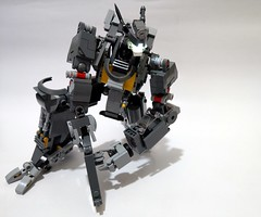 First Lego MOC in 2019 - A Grey Robot (c_s417) Tags: mech legomoc brick mecha patlabor mobile suit gun shotgun minifigure