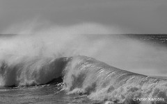 Gran Canaria - fast wave (peterkaroblis) Tags: grancanaria schwarzweiss blackandwhitewaves water