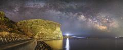 3217 (Keiichi T) Tags: light 空 天の川 milkyway 6d sea 海 灯台 night shadow eos 光 canon 日本 影 水 夜空 lighthouse star japan 夜景 water sky 夜
