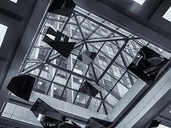 Architectural Detail 2   # 35  .... (c)rebfoto (rebfoto...) Tags: skylight atrium rebfoto monochrome bw architecture architecturaldetail architecturalphotography