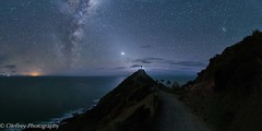 Nugget Point Lighthouse (OJeffrey Photography) Tags: milkyway smallmagellaniccloud venus starscape stars nightsky night nightscape catlins southislandnewzealand eastcoast newzealand dunedin nuggetpointlighthouse nuggetpoint lighthouse pano panorama ojeffreyphotography ojeffrey jeffowens nikon d850