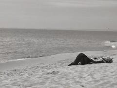 Hel - Baltic Sea (Solista*) Tags: poland polska hel morze bałtyk balticsea sea beach sand piasek man blackwhite
