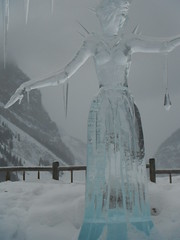 Lake Louise Alberta Canada (Mr. Happy Face - Peace :)) Tags: art2019 lakelouise cans2s snow winter fairmount hotel chateau rockies mountains 25yrs sculptures iceart