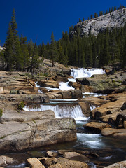 The Tuolumne Staircase (RobertCross1 (off and on)) Tags: 1250mmf3563mzuiko ca california em5 highsierra omd olympus pct pacificcresttrail sierranevada sierras tuolumne tuolumneriver yosemite yosemitenationalpark bluesky creek forest hiking landscape mirrorless mountains nature river stream trees water waterfall portrait