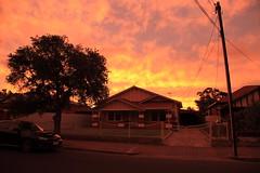 Black Forest Sunset (Darren Schiller) Tags: sunset adelaide suburbs house tree car clouds dusk australia southaustralia