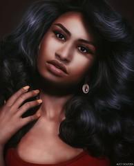 Vanessa Swain (A. Doutzen) Tags: photoshop photograpy photo portrait purple art angel avatar second secondlife sexy fashion f flickr girl god hair jacket kardashian life asiatic love