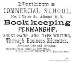 1888 Northrops commerical  school   1 yates st (albany group archive) Tags: old albany ny vintage photos picture photo photograph history historic historical 1880s school business