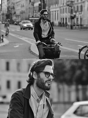 [La Mia Città][Pedala] (Urca) Tags: milano italia 2018 bicicletta pedalare ciclista ritrattostradale portrait dittico bike bicycle nikondigitale scéta biancoenero blackandwhite bn bw 118328