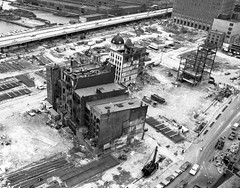 """So... occasionally people ask me """"what was there before the World Trade Center""""? This was. The remaining ruins of the old Radio Row and the 19th century Washington Market. The West Side Highway was still in use. New York. 1966 (wavz13) Tags: newyorkphotographs newyorkphotos urbanphotography newyorkphotography manhattanphotography manhattanskyline newyorkskyline newyorkskyscrapers manhattanskyscrapers oldbuildings vintagebuildings newyorkwestside manhattanwestside tribeca oldphotographs oldphotos 1970sphotographs 1970sphotos oldphotography oldnewyorkphotography oldnewyorkphotographs oldnewyorkphotos oldworldtradecenter vintageworldtradecenter twintowers originalworldtradecenter manhattanhistory newyorkhistory vintagemanhattan oldmanhattan vintagenewyork oldnewyork 1960smanhattan 1960snewyork urbanrenewal demolition urbandemolition newyorkdemolition manhattandemolition radiorow washingtonmarket lowerwestside depressing bleak noir noire dark abandonedbuildings"""