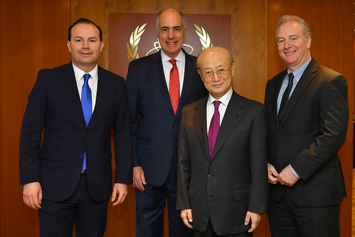 Yukiya Amano meets with US Senators Mike Lee, Bob Casey & Chris Van Hollen (01911190)