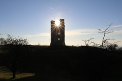 Broadway Tower (davva73) Tags: broadwaytower worcestershire cotswolds canoneos canon countrylife architecture travel uk greatbritain sunset sun silhouette landscape folly