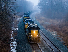 Seaboard's Finest (BravoDelta1999) Tags: csxt csx transportation baltimoreandohio railroad bo railway garrettsubdivision suman hill indiana emd sd402 8006 u601 coal coke train