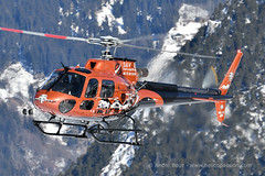 H125 helicopter landing at Courchevel mountain heliport, February 2019 (André Bour - Helico Passion) Tags: helicopter courchevel airbushelicopters h125 fhtof as350