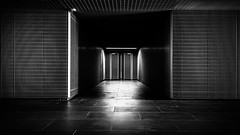 High Security (Chas56) Tags: passageway doorway architecture structure steel cage secure security canon canon5dmkiii light shadows lines patterns geometric symmetry