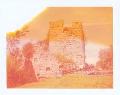 At Castle Ortenburg 1 (sycamoretrees) Tags: 690 690200409 analog automatic100 carinthia castle expired expired2004 film instantfilm kärnten landcamera marianrainerharbach model100 ortenburg packfilm polaroid ruins tower type100