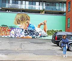 Will They All Grow Up to be Monsters? (kirstiecat) Tags: toronto canada graffiti streetart woman street canon beautiful stranger architecture