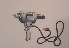 Heavy duty Drill (ianulimac) Tags: watercolor drawing draw paint doodle scribble art ianmacdonald crookedpinkiesart old tools shoulderplane blockplane lubrigun drill oldtimey