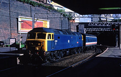 At the time working at Edgbaston 5 ways....one station away and with a modest amount of flexibility involved with my lunch hour...... very difficult phottin at BNS.....1M12 47623 (D1676 Vulcan) 11-17 Paddington-Birmingham NS arriving 12-10-1987 (the.chair) Tags: 1m12 47623 d1676 vulcan 1117 paddingtonbirmingham ns arriving oct 1987