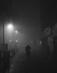 foggy night, film noir, wakefield (matthewheptinstall) Tags: filmnoir wakefield night fog mist street figures nightcrawler life urban