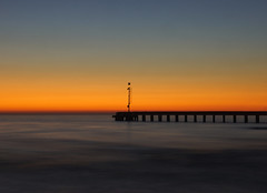 Ora blu a Cinquale di Montignoso - Massa (Darea62) Tags: sunset sea sky pier outside tramonto mare cielo longexposure landscape panorama toscana bridge jetty blue crepuscolo