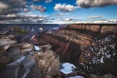 Grand Canyon (Jami Bollschweiler Photography) Tags: grand canyon photography landscape cloudy day winter ice utah photographer