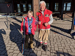 Max and Martin Hollay, 90 years difference between the two and a mutual love for skiing (benjaminfish) Tags: gunbarrel 25 tahoe south lake heavenly 2019 march spring skiing snow moguls