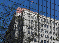 Reflection (maytag97) Tags: portlanddowntown maytag97 nikon d750 building window windows outdoor outside reflection abstract glass city portland oregon downtown square grid pattern