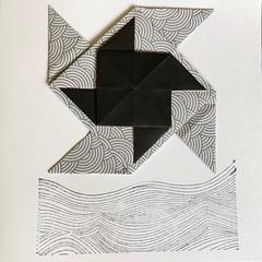 Pinwheel (anuradhadeacon-varma) Tags: paperstamps origamigreetingscard paperfolding papercrafts windmills pinwheels origami