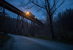 Blue Hour at The Bridge (WillJordanPhoto) Tags: csx transportation railroad habersham tennessee knoxville corbin kd subdivision