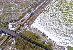 37607 at Lea Marston (robmcrorie) Tags: 37607 class 37 lea marston warwickshire snow phantom 4 test train derby exeter
