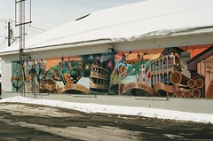 Mural (pauljohnson34) Tags: 225365 365project portra400 kodak fd t70 canon art mural findleylake winter