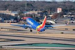 Southwest Airlines Boeing 737-71B(WL) (zfwaviation) Tags: kdal dal dallaslovefield dallas texas airport airplane plane aircraft jet business private airliner aviation runway parking garage c spotting n7852a boeing 737 737700 swa