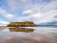 Fort, St Catherine's Island, Tenby. (hemlockwood1) Tags: tenby stcatherines pembrokeshire sand sea fort garrisonisland rocks wales holidays sky blue waves beach