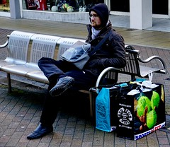 In deep Thought (stephenjenkins25) Tags: colour street photography candid portrait man sitting bench deep thought