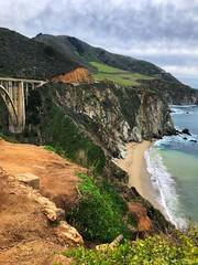 Partial Bixby Bridge, Big Sur Coastline, California (Nancy D. Brown) Tags: bixbybridge bigsur highway1 california pacificocean landscape pacificcoasthighway ocean beach