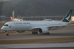 Cathay Pacific (So Cal Metro) Tags: airline airliner airplane aircraft plane jet aviation airport hongkong hkg cathaypacific airbus a350